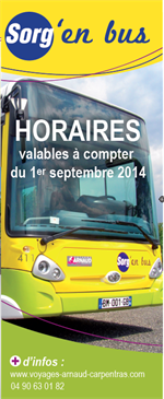 d s le 1er septembre nouveaux horaires sorg 39 en bus ville de sorgues. Black Bedroom Furniture Sets. Home Design Ideas